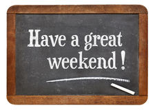 Have a great weekend on blackboard Royalty Free Stock Photography