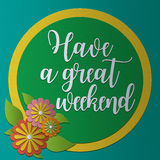 Have a great weekend card PaperCraft. Vintage style Stock Image