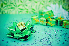 Have a green Christmas, ecology friendly gifts Royalty Free Stock Photo