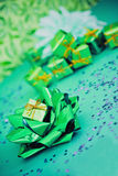 Have a green Christmas, ecology friendly gifts Stock Photos