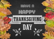 Have a happy thanksgiving day design quote postcard banner Royalty Free Stock Images