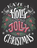 Have a holly jolly Christmas hand lettering Stock Photography