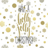 Have a holly jolly Christmas. Lettering  vector Royalty Free Stock Photos