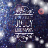 Have a holly jolly christmas - typographic element stock illustration