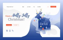 Have a Holly Jolly Christmas web banner royalty free illustration