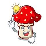 Have an idea amanita mushroom mascot cartoon Stock Image