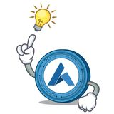 Have an idea Ardor coin mascot cartoon. Vector illustration Royalty Free Stock Images