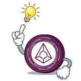 Have an idea Augur coin mascot cartoon. Vector illustration Stock Photography