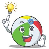 Have an idea ball character cartoon style Stock Image