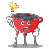 Have An Idea Barbecue Grill Cartoon Character Royalty Free Stock Photography