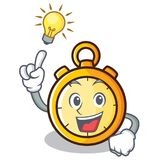 Have an idea chronometer character cartoon style Royalty Free Stock Images
