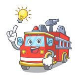 Have an idea fire truck mascot cartoon. Vector illustration Royalty Free Stock Photo