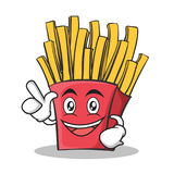 Have an idea french fries cartoon character. Vector illustration Royalty Free Stock Photo