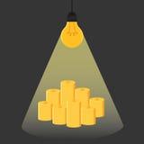 Have idea have money . Idea is money. Idea concept. Royalty Free Stock Photos