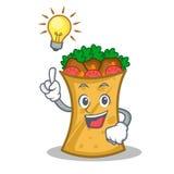 Have an idea kebab wrap character cartoon. Vector art royalty free illustration