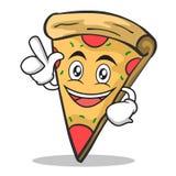 Have an idea pizza character cartoon. Vector illustration Stock Photography