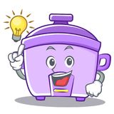 Have an idea rice cooker character cartoon Stock Photography