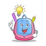 Have an idea school bag character cartoon. Vector illustration Stock Images