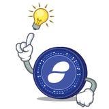 Have an idea Status coin mascot cartoon. Vector illustration Stock Photo