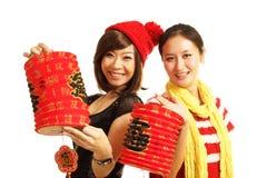 Have lantern girls Royalty Free Stock Image