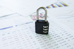 Have a lock, trade secrets Royalty Free Stock Photography