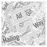 Have a Mailing List of Your Own word cloud concept Royalty Free Stock Images