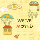 We have moved card Stock Images