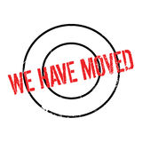We Have Moved rubber stamp Royalty Free Stock Photo