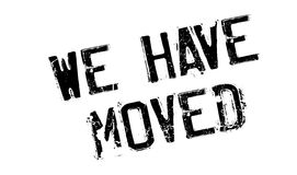 We Have Moved rubber stamp Royalty Free Stock Photography