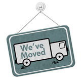 We have Moved Sign Royalty Free Stock Images