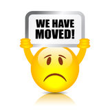 We have moved sign stock illustration