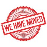 We have moved stamp Stock Photo