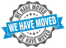 We have moved stamp Royalty Free Stock Photo
