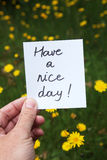 Have a nice day Stock Image
