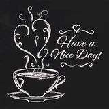 Have a nice day background with cup of tea Stock Image