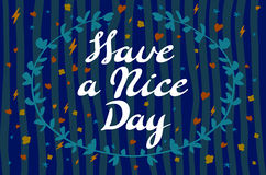 Have a nice day background. Vector illustration. Stock Photo