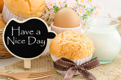 Have a nice day and breakfast. Royalty Free Stock Photos