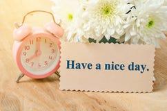 Have a nice day card. Stock Photos