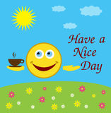 Have a nice day card Stock Photography