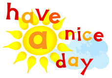 Have a nice day lettering Royalty Free Stock Photography