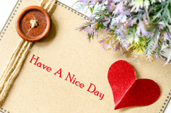 Have a nice day. Love concept. Stock Photos