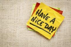 Have a nice day sticky note Stock Photos