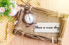 Have a nice day text. Stock Image