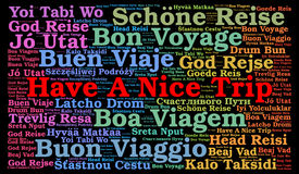 Have a nice trip word cloud in different languages Stock Image