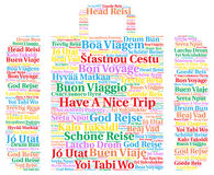 Have a nice trip word cloud in different languages Stock Photo