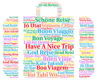 Have a nice trip word cloud in different languages Royalty Free Stock Image