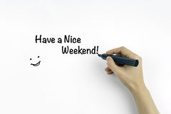 Have a Nice Weekend royalty free stock photos