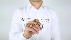 Have A Nice Weekend, Writing on Glass royalty free stock photography