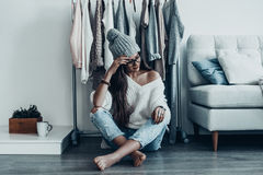 Have nothing to wear again. Royalty Free Stock Photos