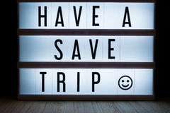 Have a save trip Royalty Free Stock Photography